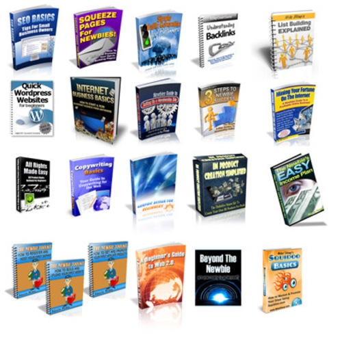 Product picture Package of 19 High Quality NEWBIE-BEGINNERS Products plr-mrr