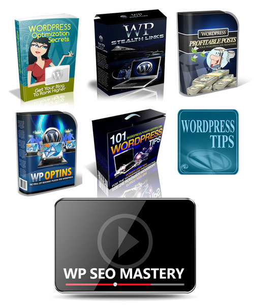 Product picture Package of 8 WordPress SEO ebooks, video tutorials MRR-PLR