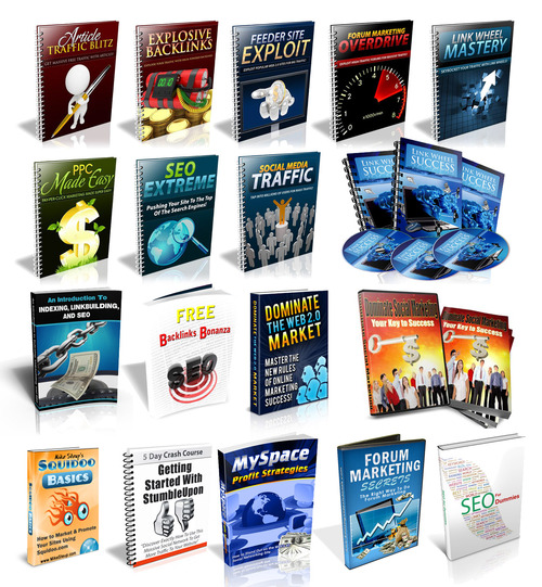 Product picture 11 LinkWheel and Web 2.0 package ebooks, videos with plr-mrr