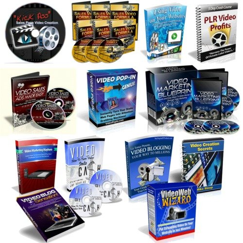 Product picture Package of 13 Video Marketing and Video Blogging Products